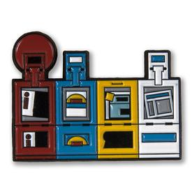 Chicago Newsboxes Enamel Pin