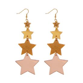 Shooting Star Earrings - Rose Gold