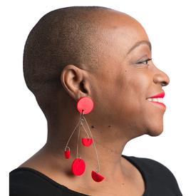 Takara Red Post Dangle Earrings