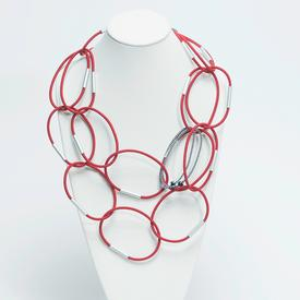 Long Links Necklace - Red