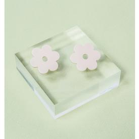 Medium Acetate Daisy Earrings - Ivory