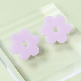 Medium Daisy Earrings - Lilac