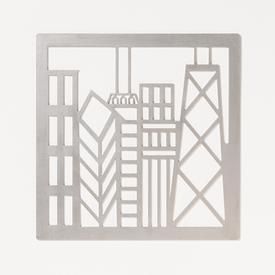 Chicago Skyline Trivet STAINLESS_STEEL