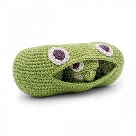 Green Pea Crochet Plush Rattle