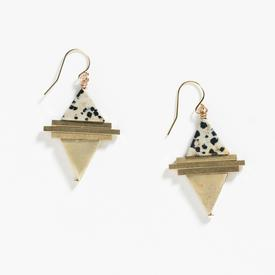 Protos Earrings - Dalmatian Jasper