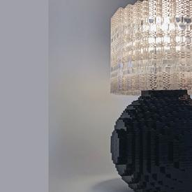 Splash of Color Brick Lamp Kit - Black BLACK
