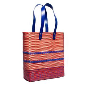 Stella Market Tote - Orange and Blue