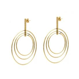 Zoe Rose Triple Hoop Gold Earrings