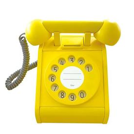 Wood Telephone Toy - Yellow