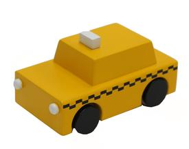 Wood Wind-Up NYC Taxi Toy