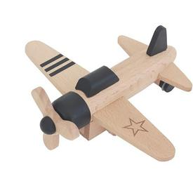 Wood Propeller Plane Toy - Black