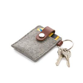 Felt Key Card Case - Granite