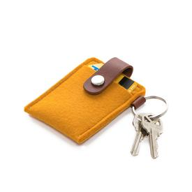Felt Key Card Case - Tumeric