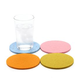 Round MultiColor Felt Coasters Set