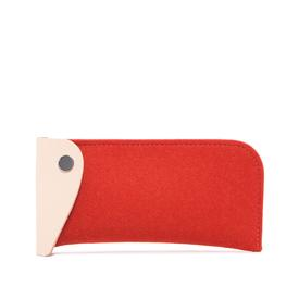 Felt  Eyeglass Case - Orange