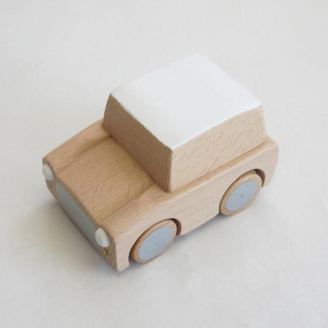 Wood Car Wind- Up Toy - Natural