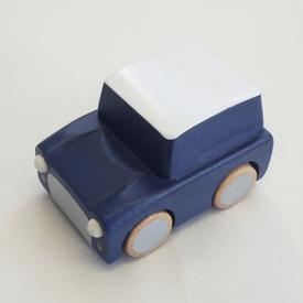 Wood Car Wind-Up Toy - Navy NAVY