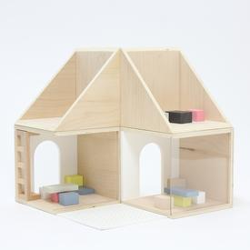 Wood Modular House Toy Set