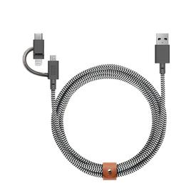 3-in-1 Belt Universal Cable - 6.5 feet