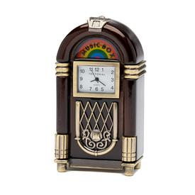 Retro Jukebox Clock - Brown