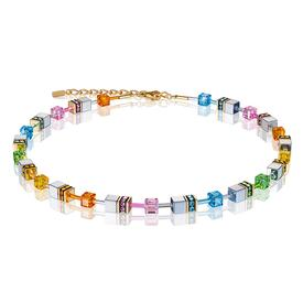 GeoCube Swarovski Crystals Necklace - Multicolor