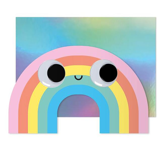 Googly Eyes Rainbow Greeting Card