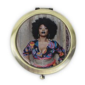 Mickalene Thomas - Double-Sided Bronze Purse Mirror
