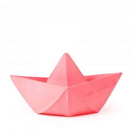 Origami Boat Teether Toy - Pink