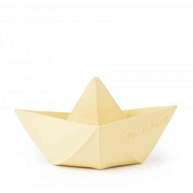 Origami Boat Teether Toy - Vanilla
