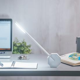 Octagon One Portable Desk Lamp -  White