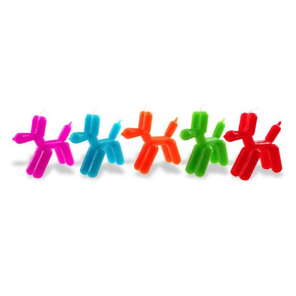 Balloon Dog Birthday Candles Set