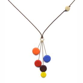 Drop Discs Multicolored Necklace