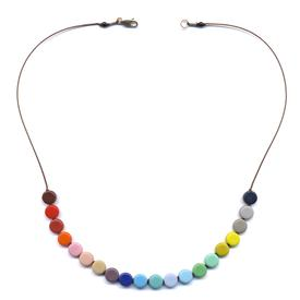 Discs Rainbow Necklace