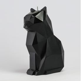 Kisa Black Cat Skeletal Candle BLACK