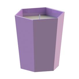 Skittle Lidded Candle - Lilac and Turquoise