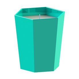 Skittle Lidded Candle - Turquoise and Dark Grey