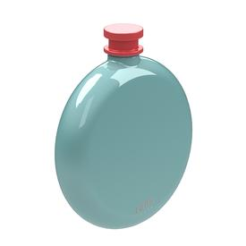 Skittle Round Hip Flask - Mint and Coral