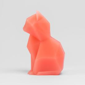 Kisa the Cat Shaped Candle - Coral CORAL