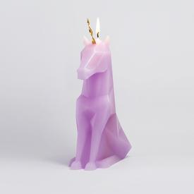 Einar the Unicorn Shaped Candle - Lilac
