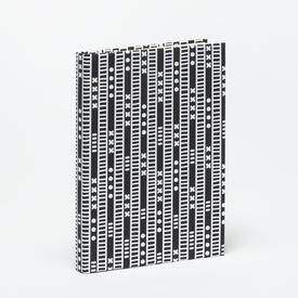 Duro Olowu Hardbound Journal Lagos Stripe Black & White - Large