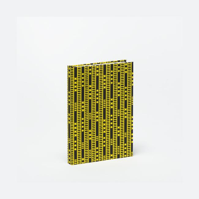 Duro Olowu Hardbound Journal Lagos Stripe Black & Yellow - Small