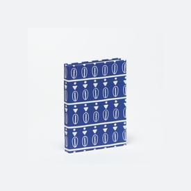 Duro Olowu Hardbound Journal Floating Cowrie Blue & White - Small