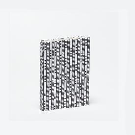 Duro Olowu Hardbound Journal Lagos Stripe White & Black - Small