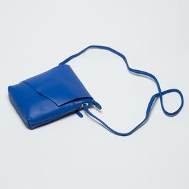 Cobalt Leather Cross-Body Handbag