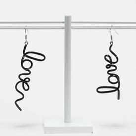 Love Earrings - Black