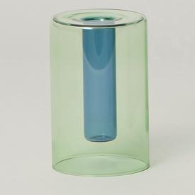 Mini Reversible Glass Vase - Green/Blue