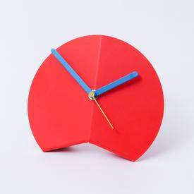 Origami Desk Clock - Red
