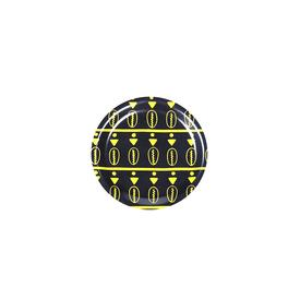 Duro Olowu Coaster Floating Cowrie Yellow and Black BLACK_YELLOW
