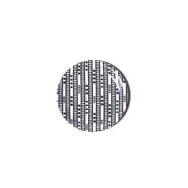 Duro Olowu Coaster Lagos Stripe Black and White