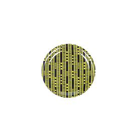 Duro Olowu Coaster Lagos Stripe Black and Yellow YELLOW_BLACK